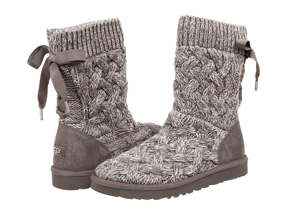 UGG - Isla (Heathered Grey/Knit) Women's Boots