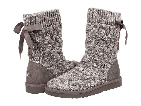 UGG - Isla (Heathered Grey/Knit) Women's Boots