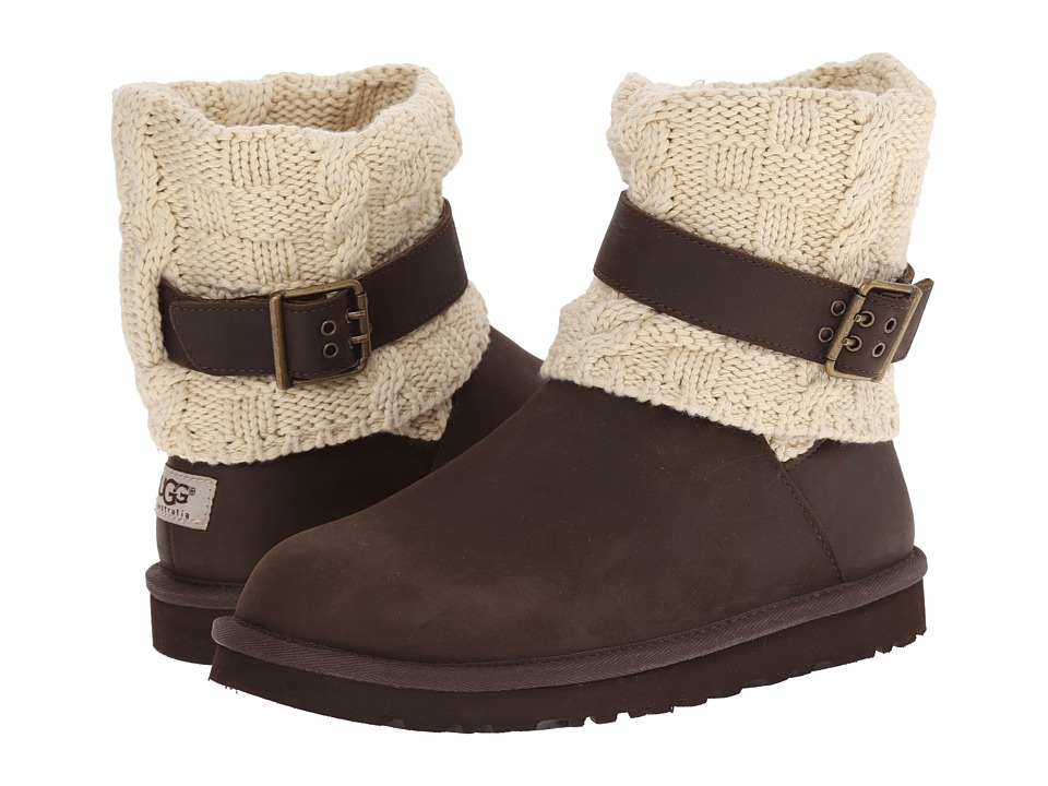 UGG - Cassidee (Chocolate Leather/Knit) Women's Pull-on Boots