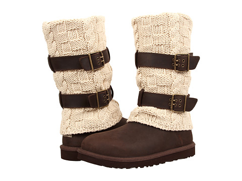 UGG - Cassidee Tall (Chocolate Leather/Knit) Women's Boots