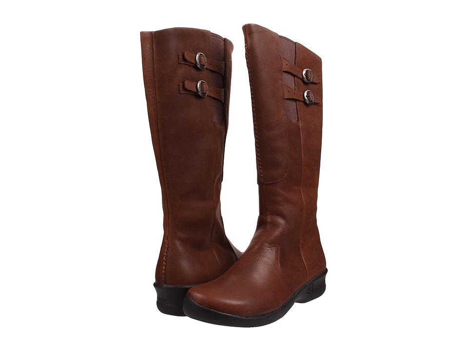 Keen - Bern Baby Wide Calf (Oak) Women's Zip Boots