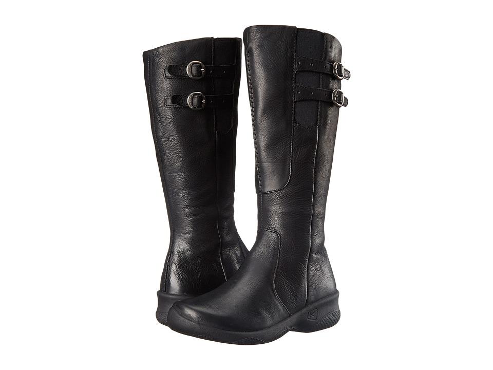 Keen - Bern Baby Wide Calf (Black) Women's Zip Boots