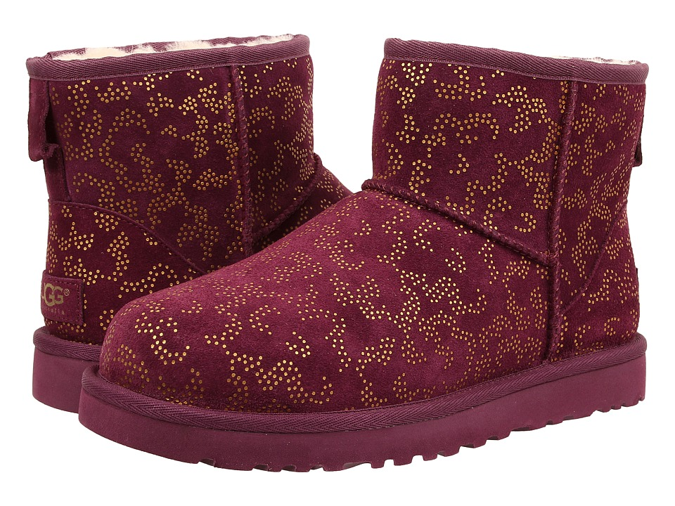 UGG - Classic Mini Metallic Conifer (Aster Suede) Women's Boots