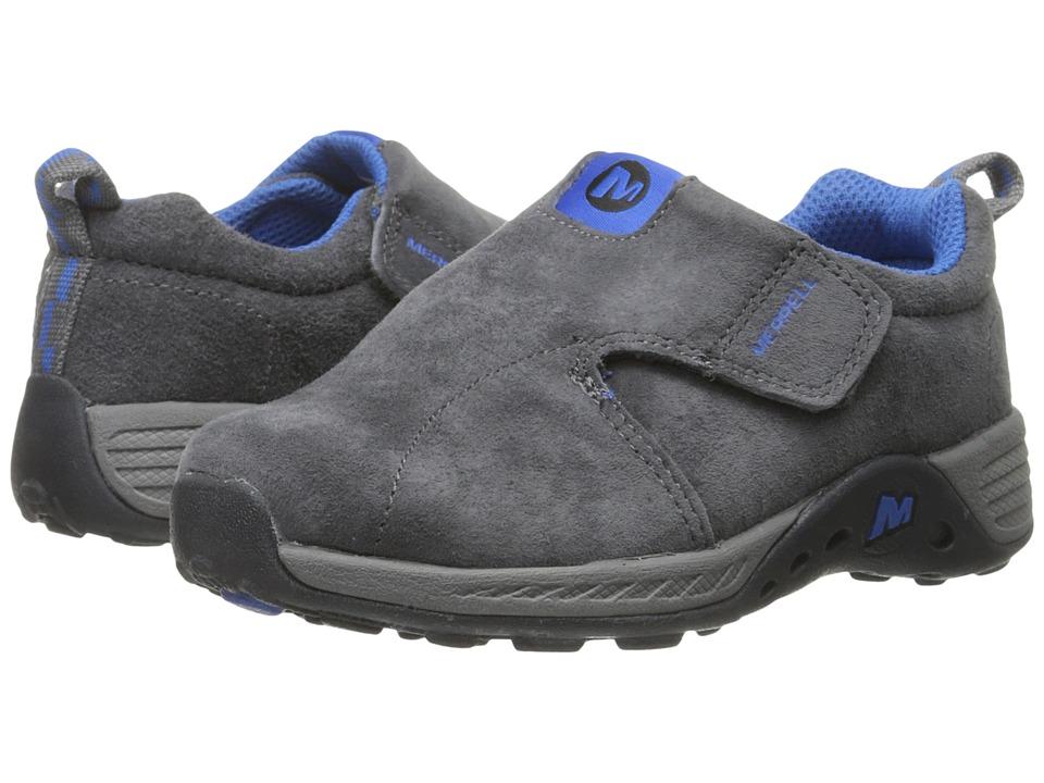 Merrell Kids - Jungle Moc Sport A/C (Toddler) (Grey/Blue) Boy's Shoes