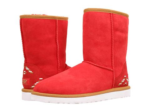 UGG - Classic Short Rustic Weave (Scarlett/Twinface) Women's Boots