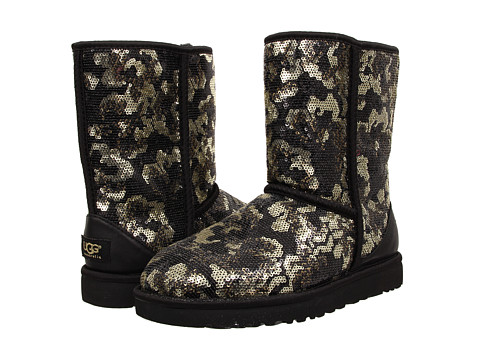 UGG - Sierra Sparkles (Black Sequins) Women