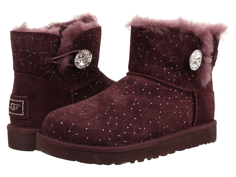 UGG - Mini Bailey Button Bling Constellation (Lodge Suede) Women's Boots