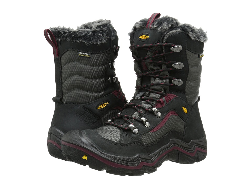 Keen - Durand Polar (Black/Zinfandel) Women's Cold Weather Boots