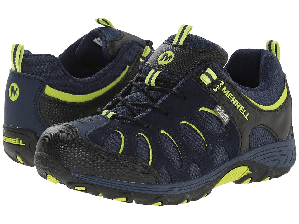 Merrell Kids - Chameleon Low Lace Waterproof (Big Kid) (Navy/Black/Lime) Boys Shoes