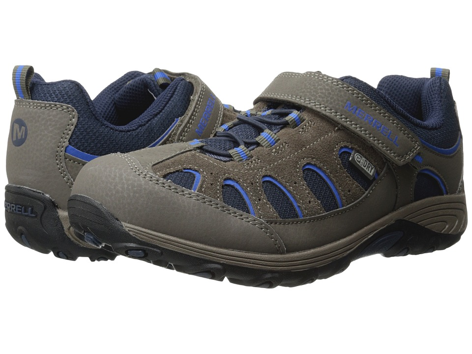Merrell Kids - Chameleon Low A/C Waterproof (Big Kid) (Gunsmoke/Blue/Black) Boys Shoes