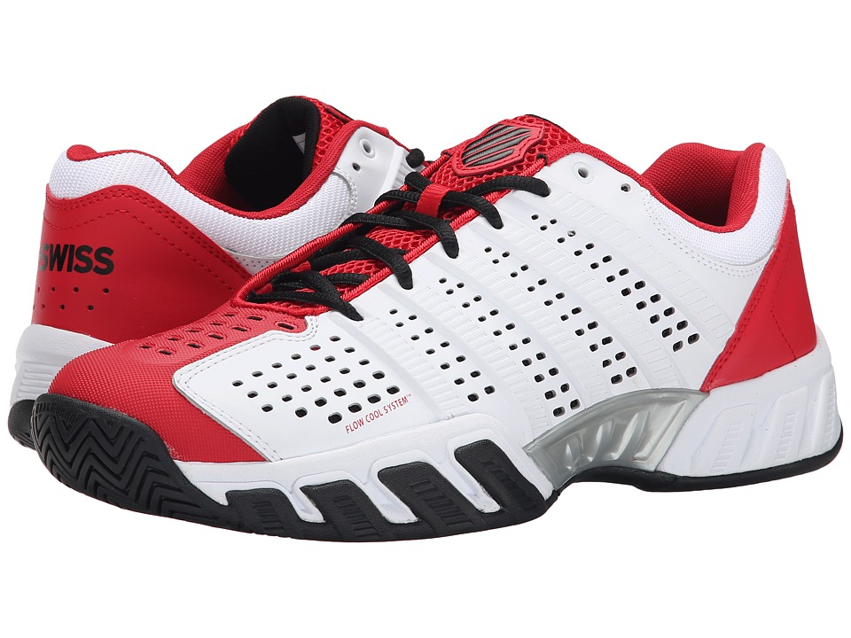 K-Swiss - Bigshot Light 2.5 (White/Red/Black) Men's Tennis Shoes