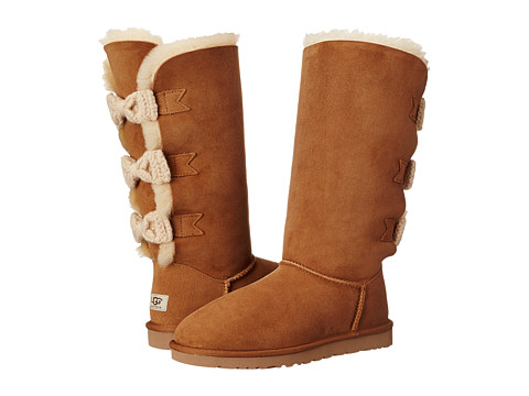 UGG - Tall Bailey Knit Bow (Chestnut/Twinface) Women's Pull-on Boots