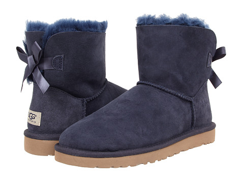 UGG - Mini Bailey Bow (Navy Twinface) Women's Boots