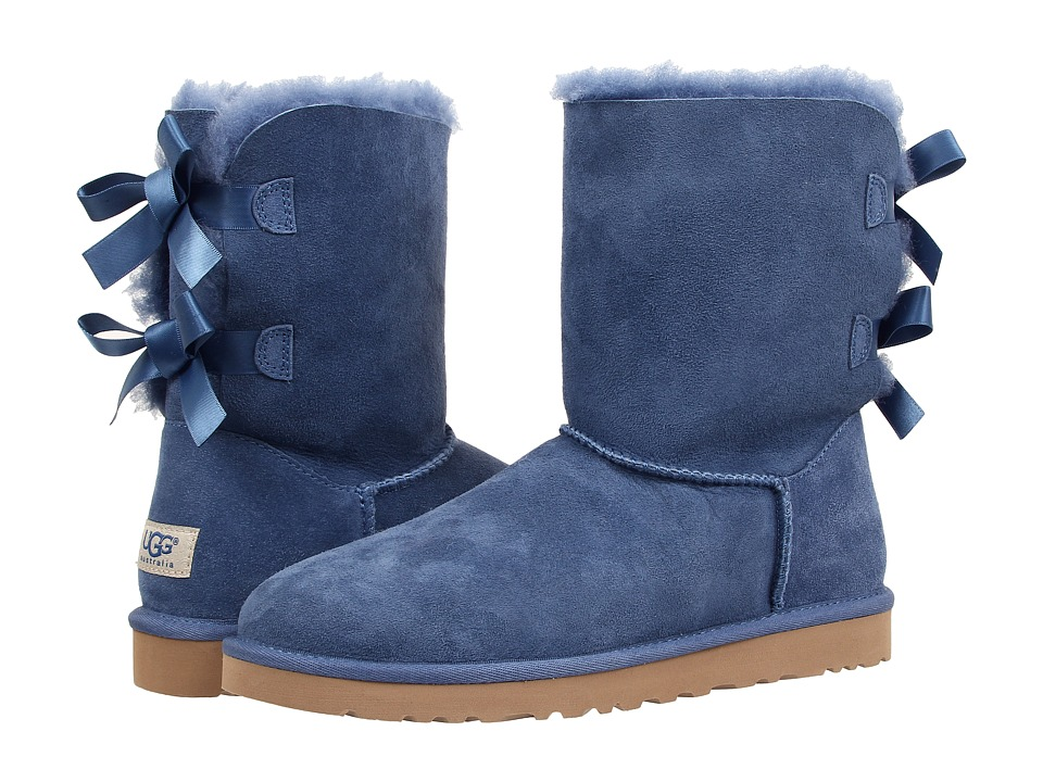 UGG - Bailey Bow (Blue Jay Twinface) Women's Boots