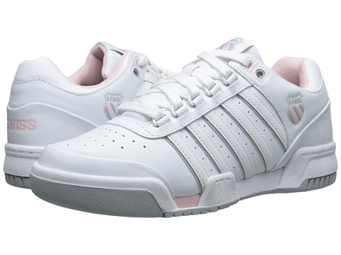 K-Swiss - Gstaad (White/Crystal Rose/Storm) Women's Tennis Shoes