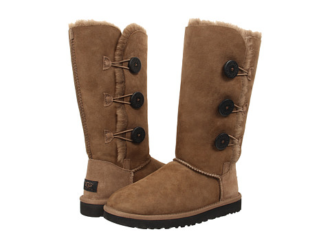 UGG - Bailey Button Triplet (Dry Leaf Twinface) Women's Boots