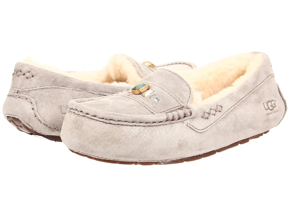 UGG - Ansley Chunky Crystals (Ash Suede) Women's Slip on Shoes