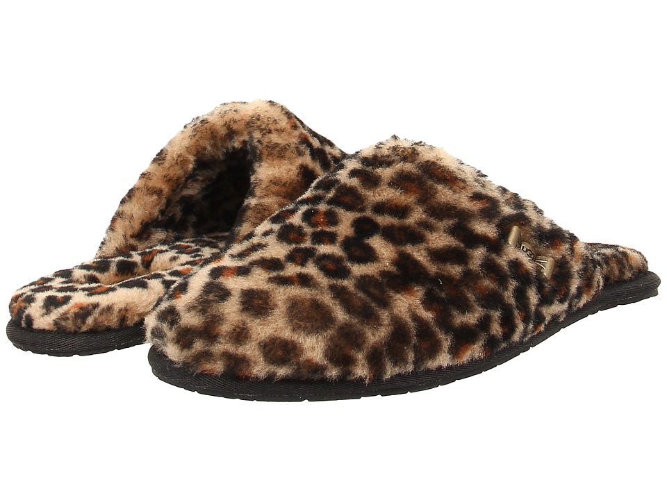 UGG - Leopard Clog (Chestnut Leopard Sheepskin) Women's Slip on Shoes