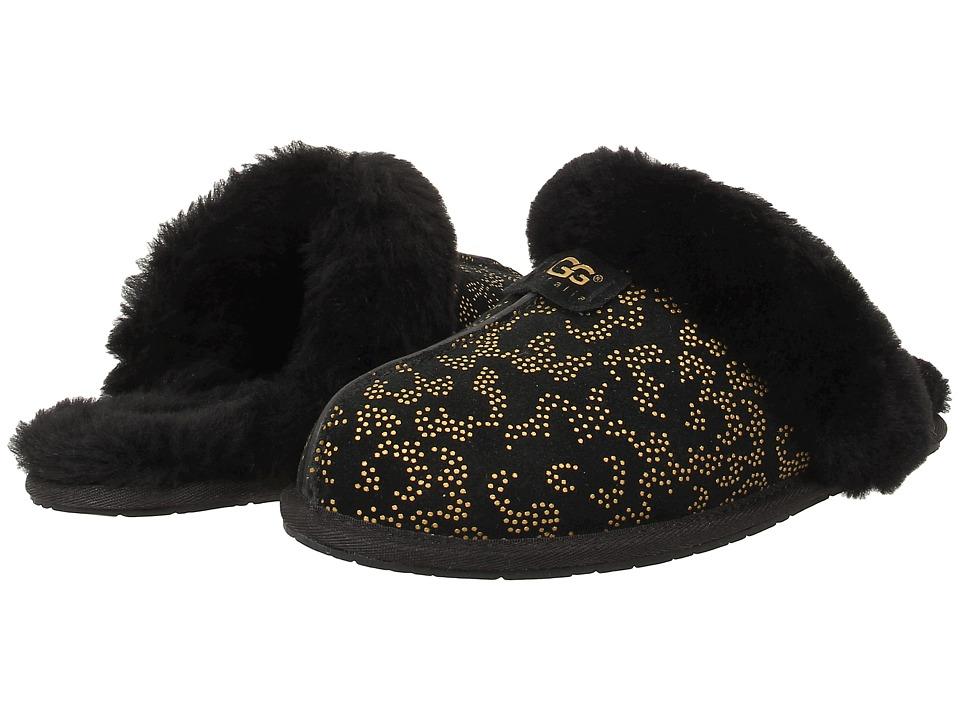 UGG - Scuffette II Metallic Conifer (Black Suede) Women's Slip on Shoes