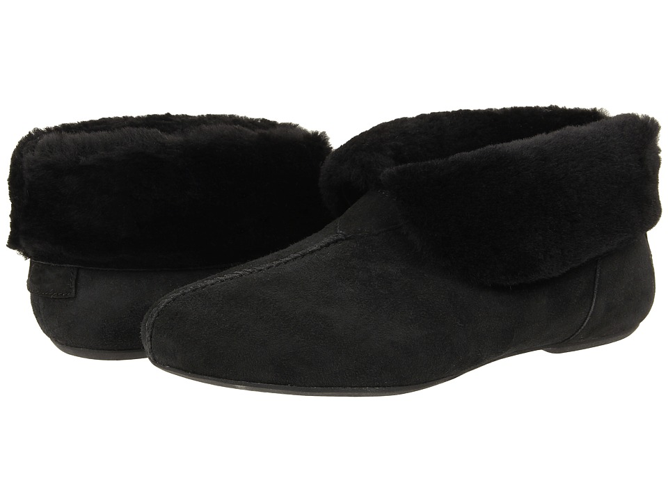 UGG - Nerine (Black Twinface/Suede) Women's Slip on Shoes