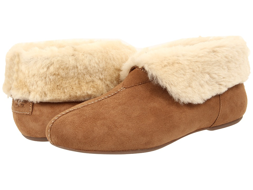 UGG - Nerine (Chestnut Twinface/Suede) Women's Slip on Shoes