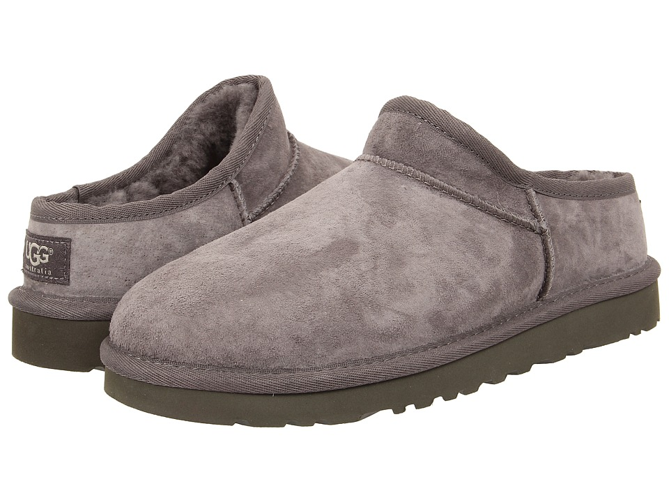 UGG - Classic Slipper (Grey Suede) Women's Slip on Shoes