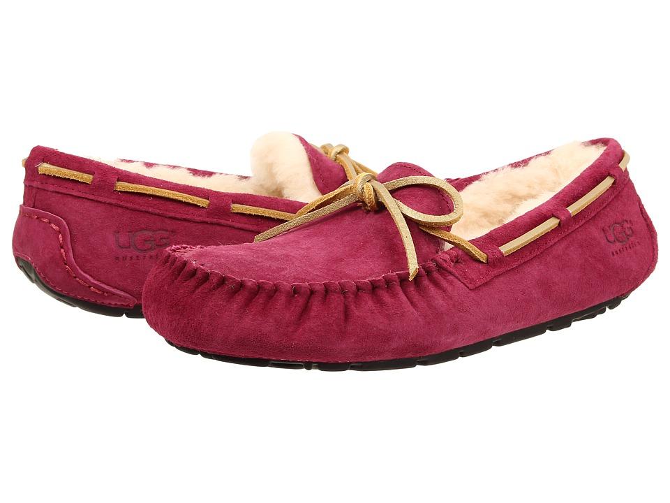 UGG - Dakota (Red Violet Suede) Women's Moccasin Shoes