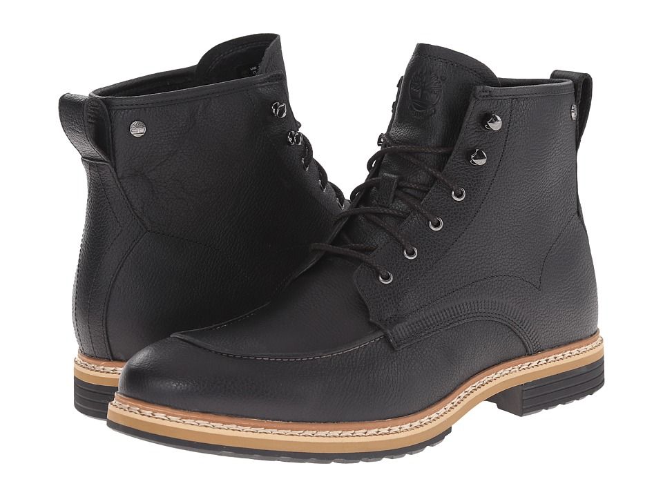 Timberland West Haven 6 Waterproof Boot (Black Full Grain) Men
