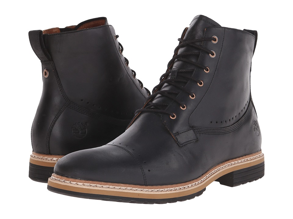 Timberland West Haven 6 Side Zip Boot (Black Full Grain) Men