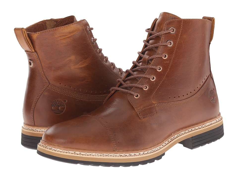 Timberland - West Haven 6 Side Zip Boot (Tan Full Grain) Men's Boots