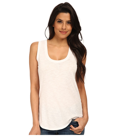 C&C California - Shirt Tail Tank Top (White 1) Women's Sleeveless