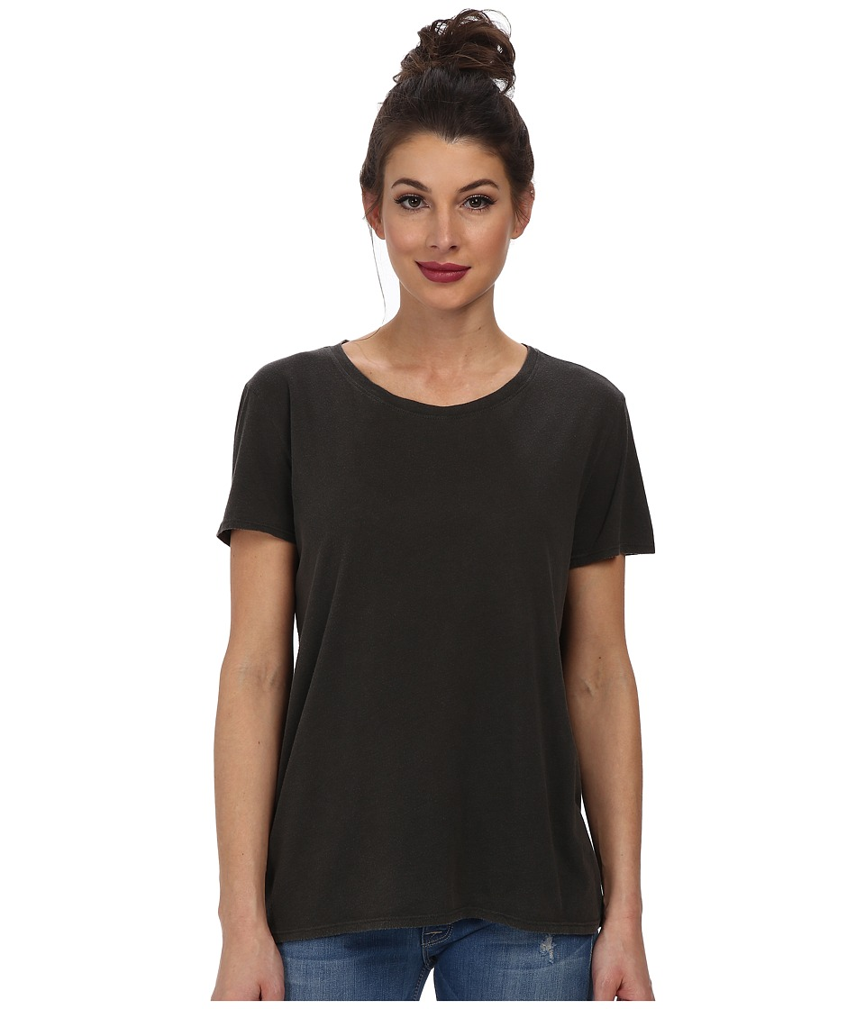 AG Adriano Goldschmied - Float Tee (True Black) Women's T Shirt