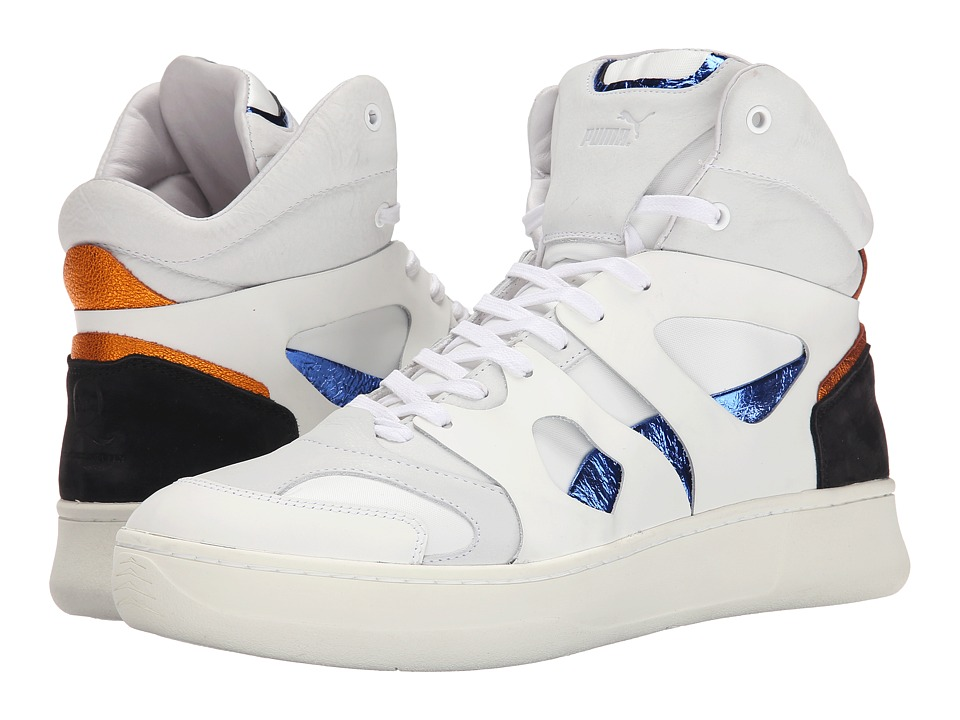 PUMA Sport Fashion - McQ Move Mid (White/White/Surf The Web) Men's Shoes