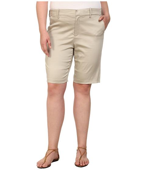 NYDJ Plus Size - Plus Size Justina Shorts - Sateen (Sand Dollar) Women