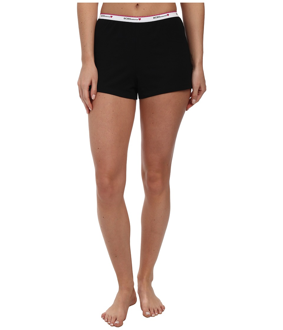 BCBGeneration - Jessa Show N' Tell Shorts (Black) Women's Pajama