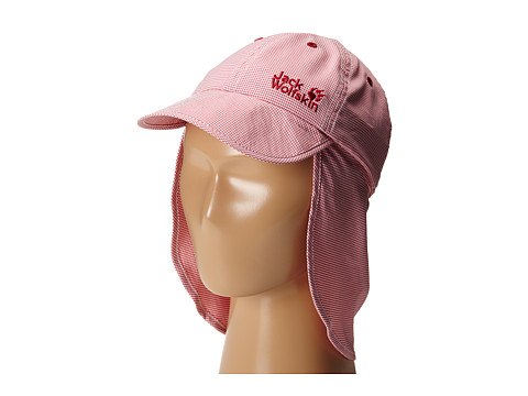 Jack Wolfskin Kids - Desert Sun Hat (Little Kid/Big Kid) (Azalea Red Checks) Caps