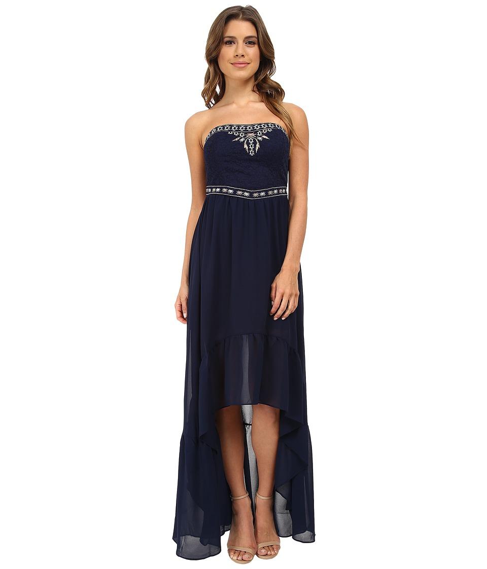 Gabriella Rocha - Krystal Strapless Hi Low Maxi Dress (Navy) Women