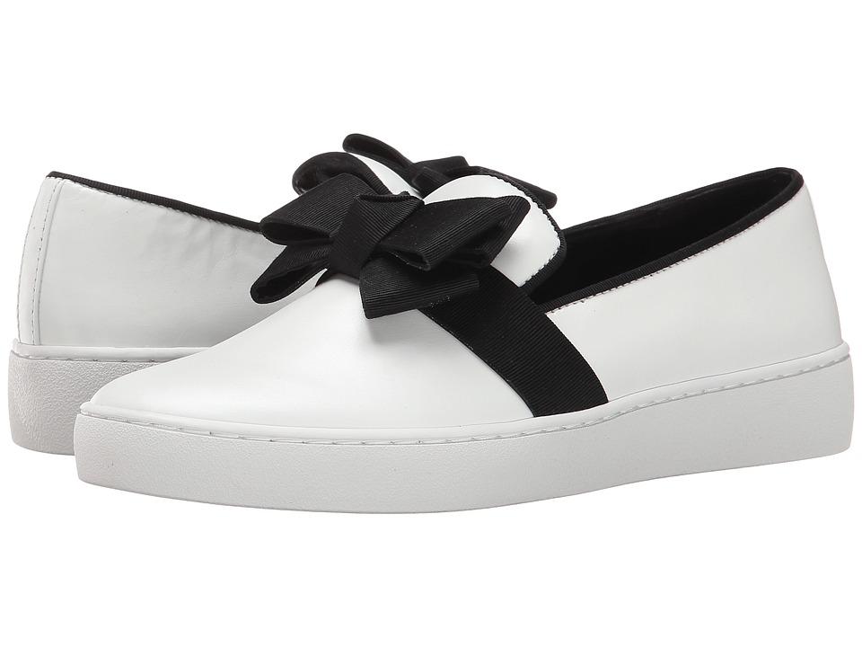 Michael Kors Val Runway (Optic White Smooth Calf/Grosgrain) Women