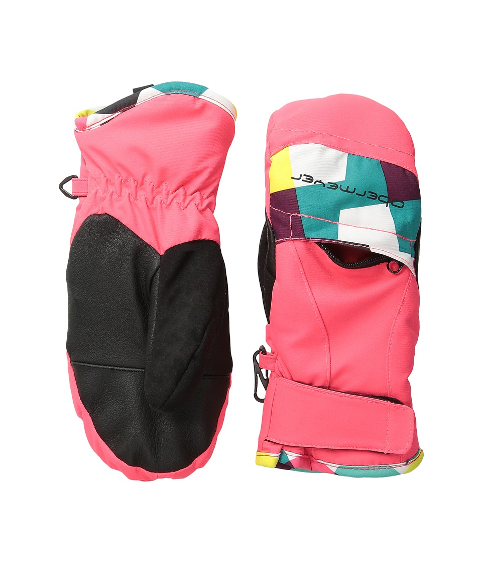Obermeyer Kids - Radiator Mitten (Little Kid/Big Kid) (Day Glow Pink) Over-Mits Gloves