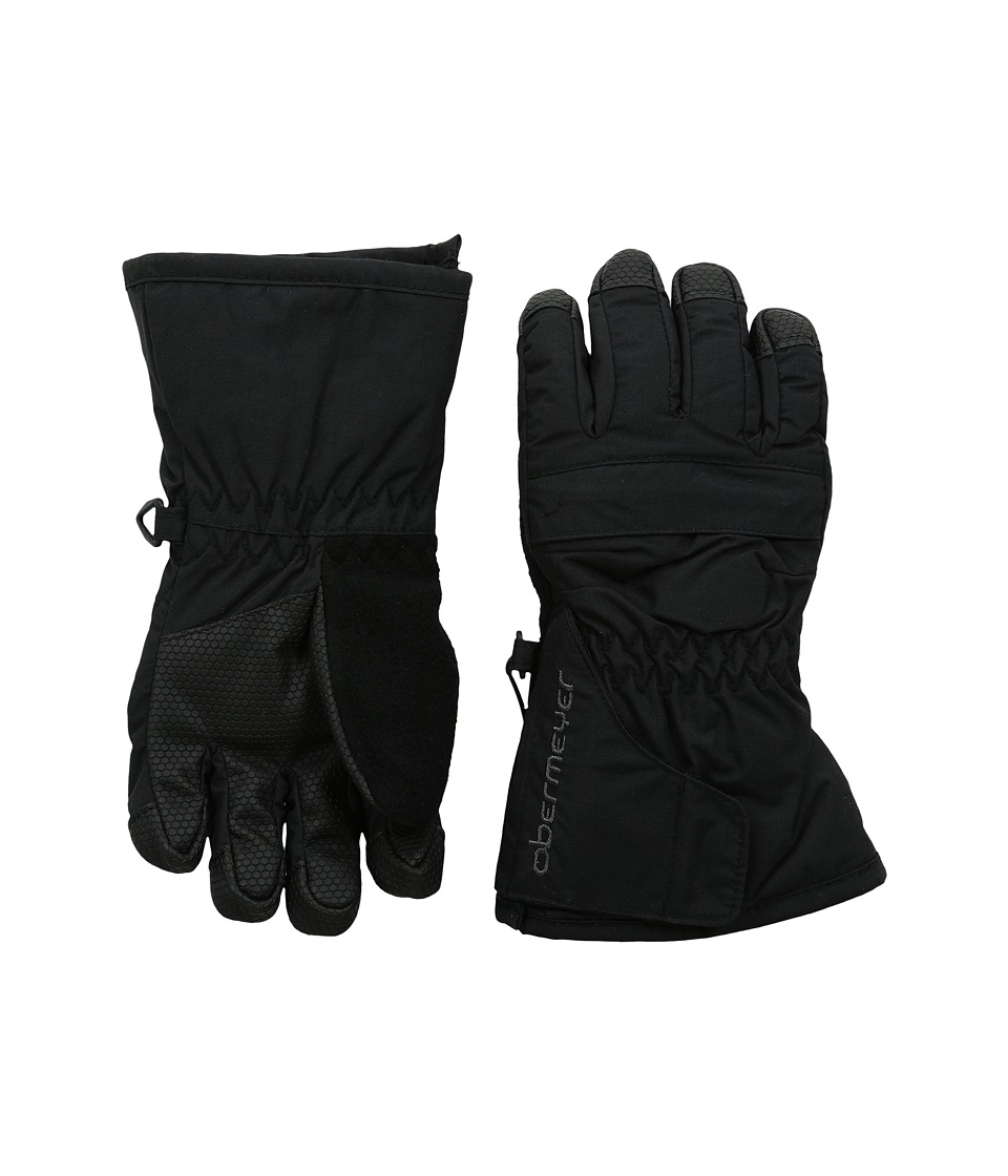 Obermeyer Kids - Gauntlet Glove (Toddler/Little Kid) (Black) Extreme Cold Weather Gloves