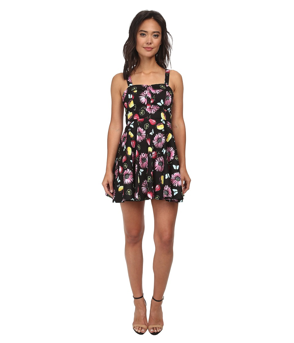 Gabriella Rocha - Allegra Party Dress (Black Fruit Print) Women