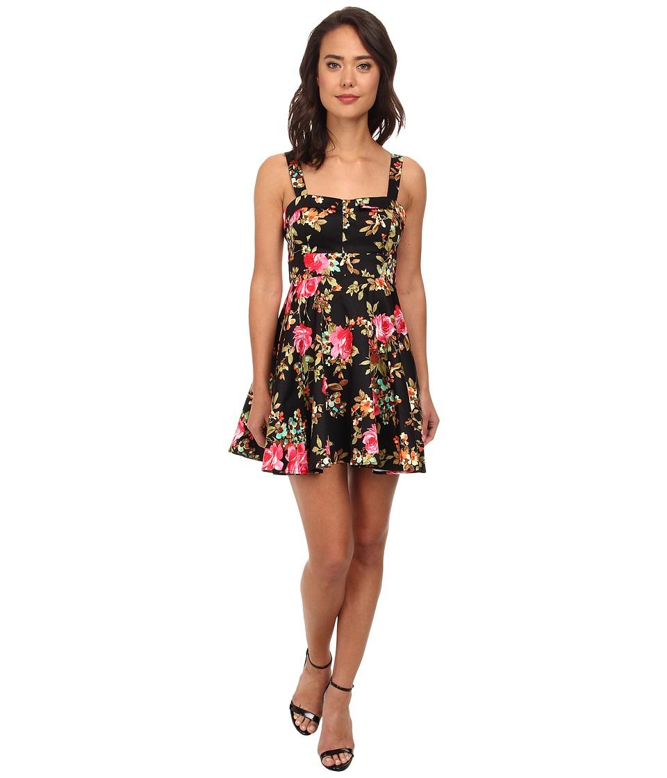 Gabriella Rocha - Arabesque Party Dress (Black Rose Floral) Women
