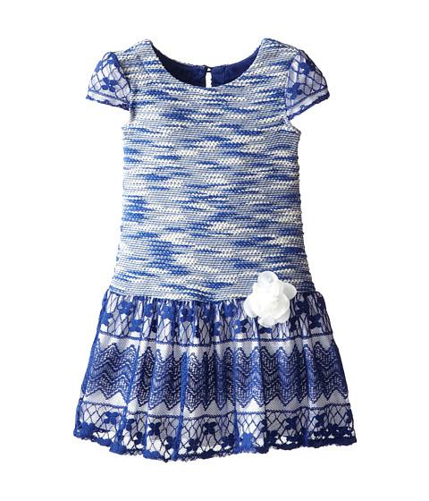 Us Angels - Cap Sleeve Dress w/ Drop Waist (Little Kids) (Navy) Girl