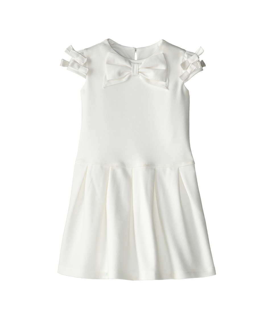 Us Angels - Cap Sleeve Bow Front w/ Drop Waist (Toddler) (Ivory) Girl