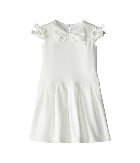 Us Angels - Cap Sleeve Bow Front w/ Drop Waist (Toddler) (Ivory) Girl's Dress