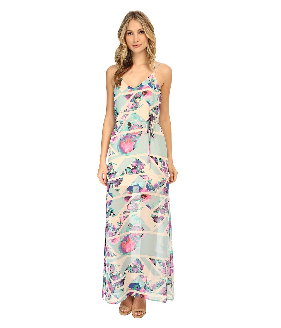 Brigitte Bailey - Cio Floral Maxi Dress (White Floral) Women's Dress
