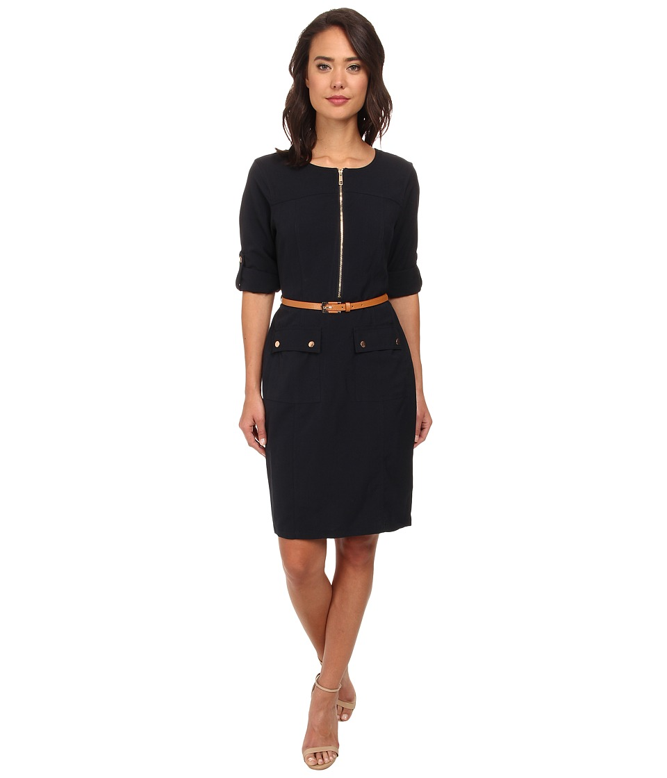 rsvp - Allie Shirt Dress (Navy) Women's Dress