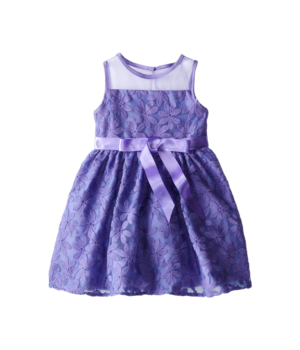 Us Angels - Daisy Embroidery Organza Dress (Little Kids) (Lavendar) Girl