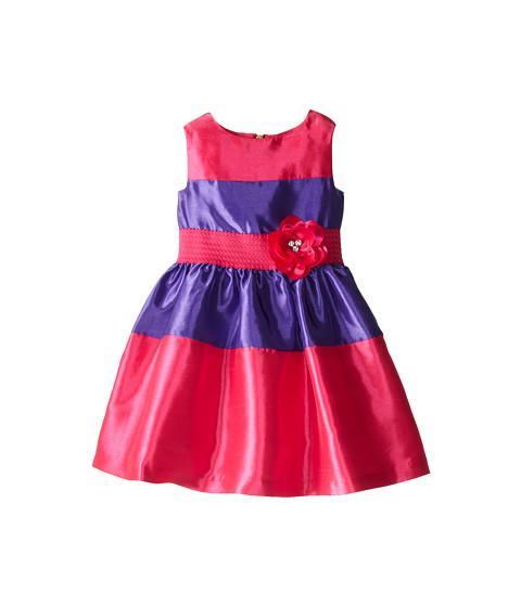 Us Angels - Sleeveless Elastic Waist Color Block (Little Kids) (Fuchsia) Girl
