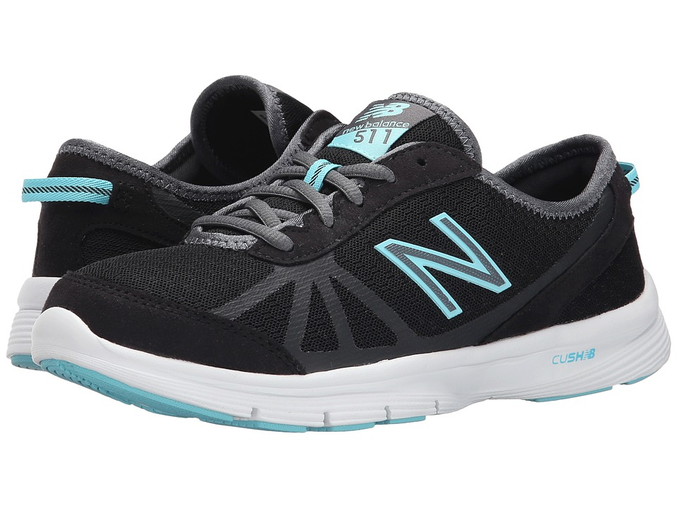 New Balance - WW511 - Fitness Walking (Black/Blue) Women's Walking Shoes